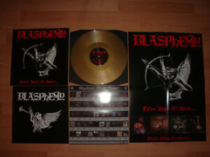 BLASPHEMY-Fallen-Angel-of-Doom-GOLD-LP-limited-to-100-Horror-Records-exclusive