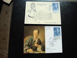 FRANCE-2-cartes-1er-jour-17-3-1984-journee-du-timbre-B14-french