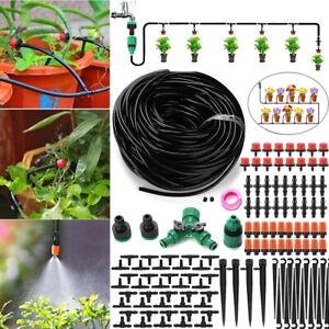 NEU 30m Bewässerungssystem 35 Drippers DIY Gartenpflanze Gewächshaus Bewässerung