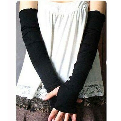 Fashion Women Girl warm Arm Warmer cotton Long Fingerless Gloves Party Gift