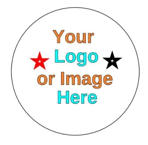 Logotipo personalizado personalizado 37mm Círculo negocio//etiquetas de nombre de empresa//Pegatinas