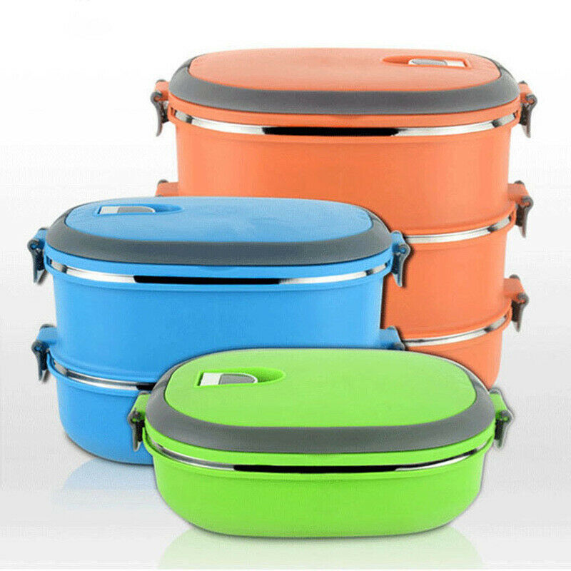 1/2/3 Layer Portable Stainless Steel Thermal Insulated Lunch