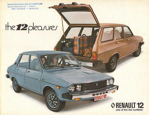 1969 80 Renault 12 Head light Lamp Bezel Door Trim Pair Double Sealed beam type
