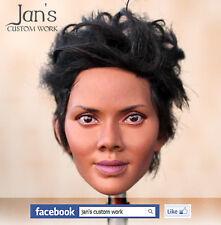 1/6 Hot CUSTOM REPAINT REHAIR Halle Berry toys female figure head kumik phicen