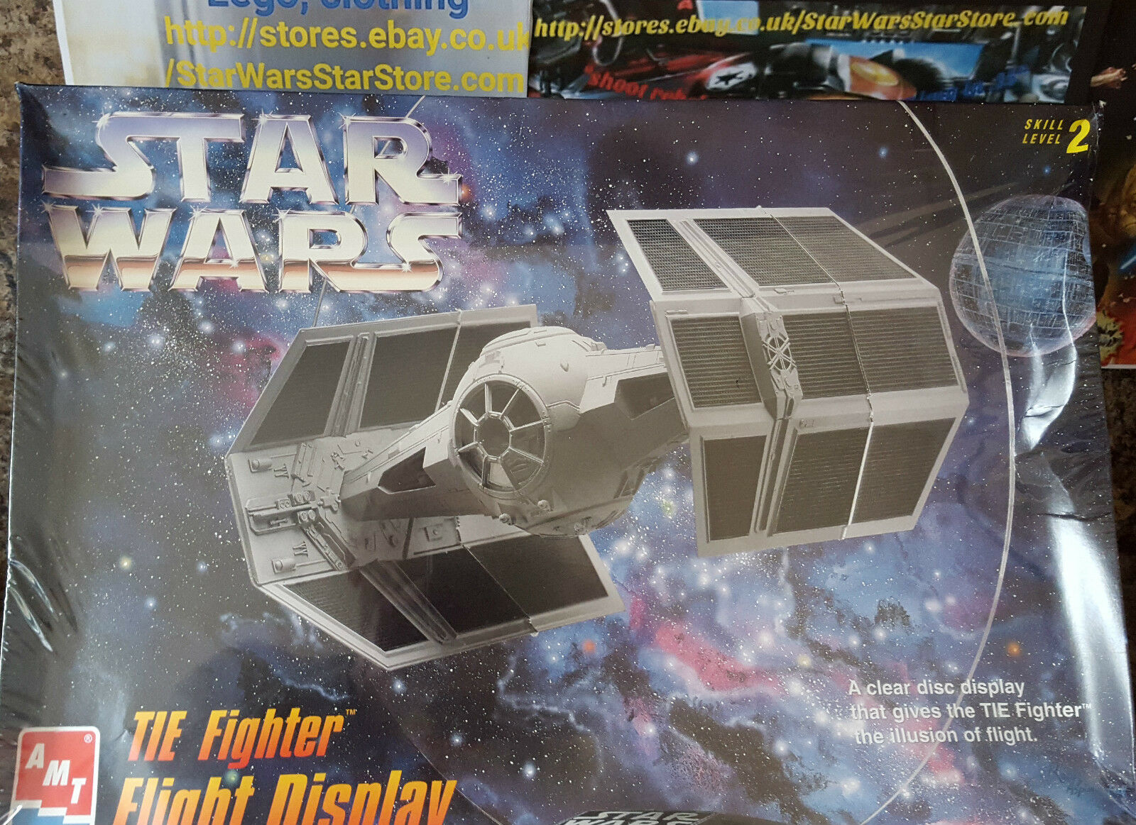 Star Wars Darth Vader Tie Fighter Model AMT Sealed  NEW Obsolete 1996  V.RARE
