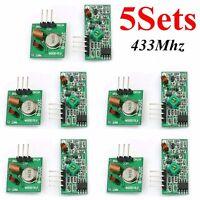 5Pcs 433MHz RF Transmitter / Receiver Kit Module Arduino ARM WL MCU Raspberry PI