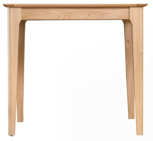 SOLID WOOD SCANDI KITCHEN TABLE NORMANDY OAK SMALL FIXED TOP DINING TABLE