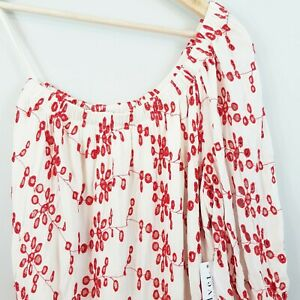 ANTHROPOLOGIE-Velvet-Womens-Maya-Embroidered-Top-Size-M-or-AU-12-US-8