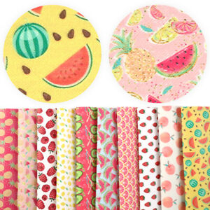 Fashion-Summer-Fruit-Printed-Faux-Leather-For-Notebook-Cover-Single-Pcs-Or-Set