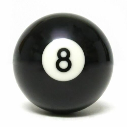 """2 x REPLACEMENT 2/"""" BLACK 8 BALLS STANDARD SIZE For PUB CLUB /& HOME POOL TABLES"""