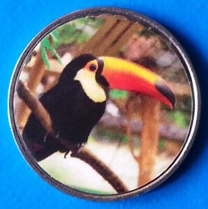 Benin-10-Francs-CFA-2018-UNC-Tucan-Bird-unusual-coin
