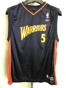 official photos 4d70e 32fee Details about Vintage Reebok BARON DAVIS #5 Golden State Warriors Jersey  Size Youth XL RARE