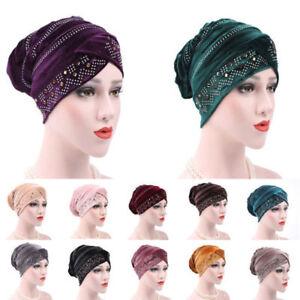 Muslim-Women-Hat-Hijab-Turban-Islamic-Velvet-Warm-Cap-Hair-Loss-Headscarf-Bonnet