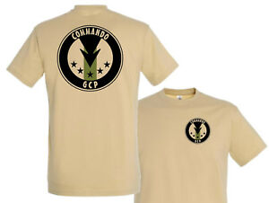 Tshirt Tan Commando Gcp S M L Xl Xxl Para Forces Speciales Cos T
