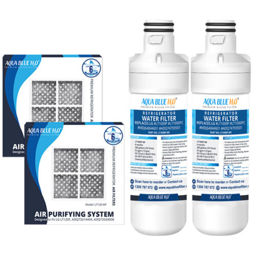 2X LG LT1000P compatible water filter with 2X LG LT120F replacing air filter
