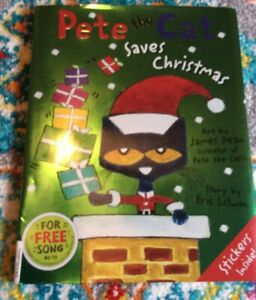 Pete The Cat Pete The Cat Saves Christmas By Eric Litwin 2014 Hardcover 9780062110626 Ebay