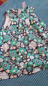 Confiant Miniclub Fille Vert Robe D'été 2-3 Ans Imprimé Fleuri-afficher Le Titre D'origine