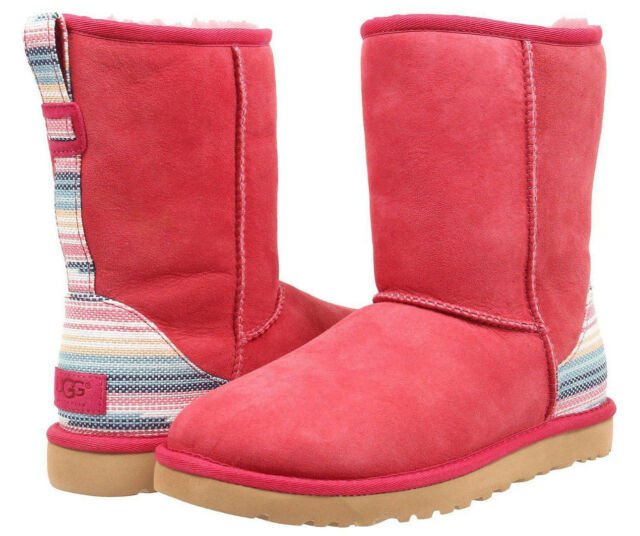 2c39572ad8a3 UGG Classic Short Serape Boot Sunset Red Twinface Size 5 for sale ...