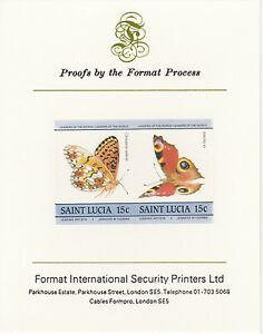 St Lucia 3207 - 1985 BUTTERFLIES 15c on Format International PROOF CARD