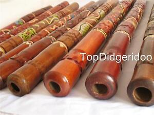 Capable Petit Peu Fissures - Pois Painted&carved Aborigène Didgeridoo