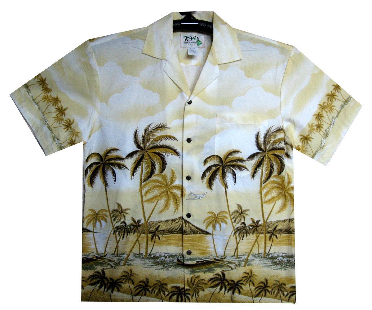 Ky 'S ORIGINALE Camicia Hawaii, Palm Beach Beige, s-6xl