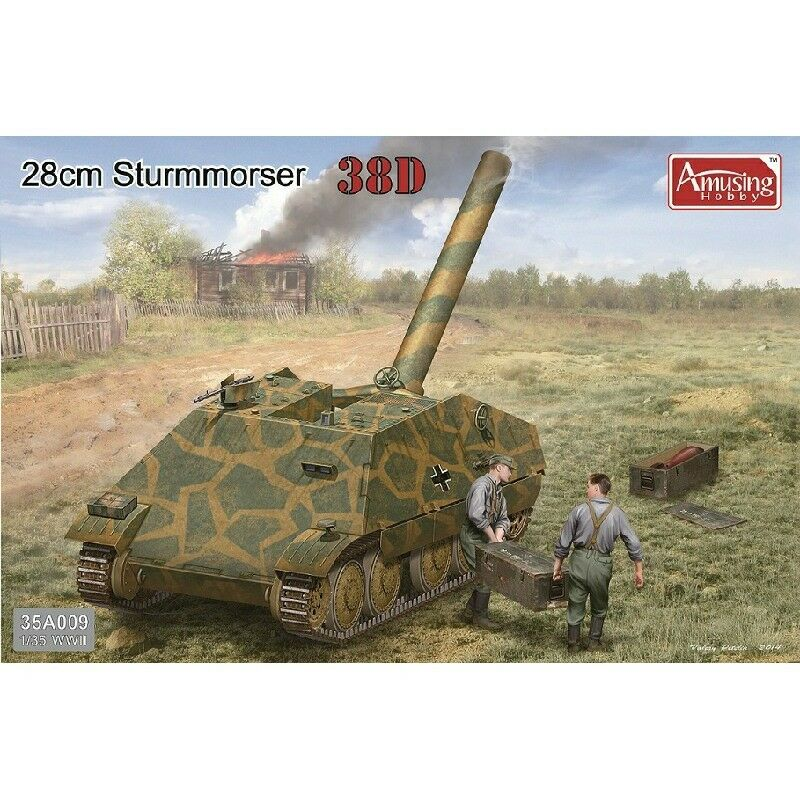 Amusing Hobby 35A009 WWII 1 35 Model Kit Tank - 28cm Sturmmörser 38D