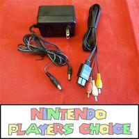 Ac Adapter + Av Cable - For The Super Nintendo Snes System Both Mini & Original
