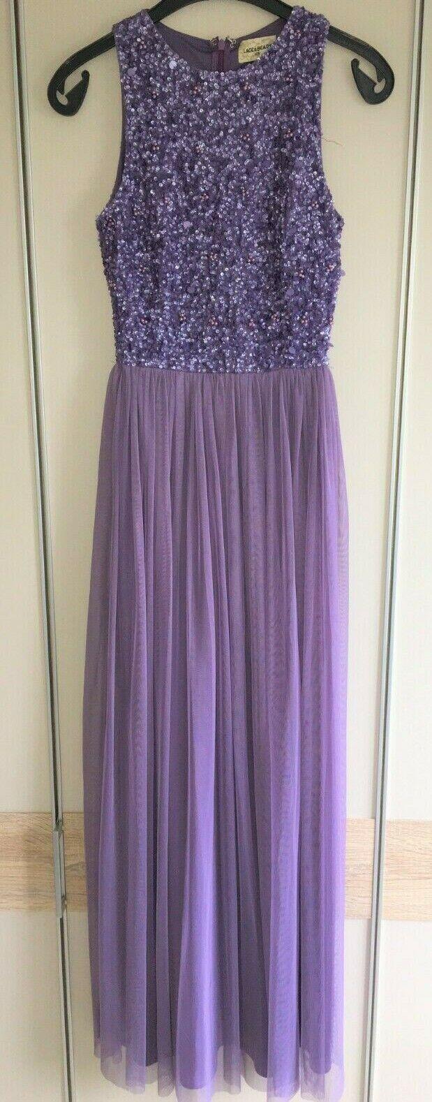 Abendkleid von Lace & Beads, Abschlusskleid, Festliches Kleid, XS Lila