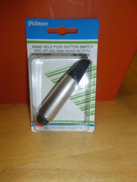Push Button Momentary Microphone Switch SPST ON Philmore Push-To-Talk OFF-