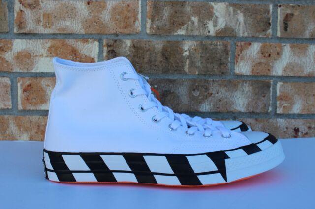 Converse Virgil Abloh Off White Chuck Taylor All Star 70 Hi Top Shoes Men 8.5 10