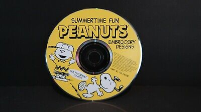 SUMMERTIME FUN DESIGNS MACHINE EMBROIDERY DESIGNS ON CD OR USB PEANUTS