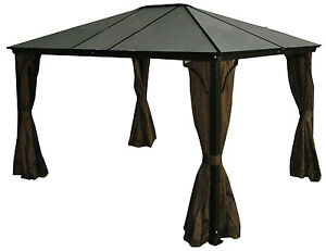 Aluminum-Hard-Top-Gazebo-Casa-PC-Roof-10x12-with-Mosquito-Netting-Included