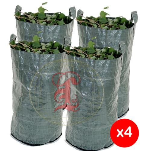 4 x Heavy Duty Green Woven Garden Waste Refuse Sack Bag 150 litres