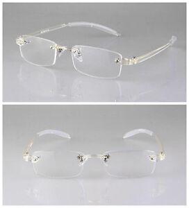 0d3083ad0e2 Image is loading TR90-Transparent-Clear-Flexible-Eyeglass-Frame-Rimless -Retro-