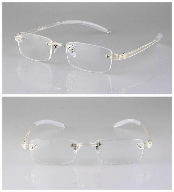 b44fffe8be TR90 Transparent Clear Flexible Eyeglass Frame Rimless Retro Glasses  Ultralight