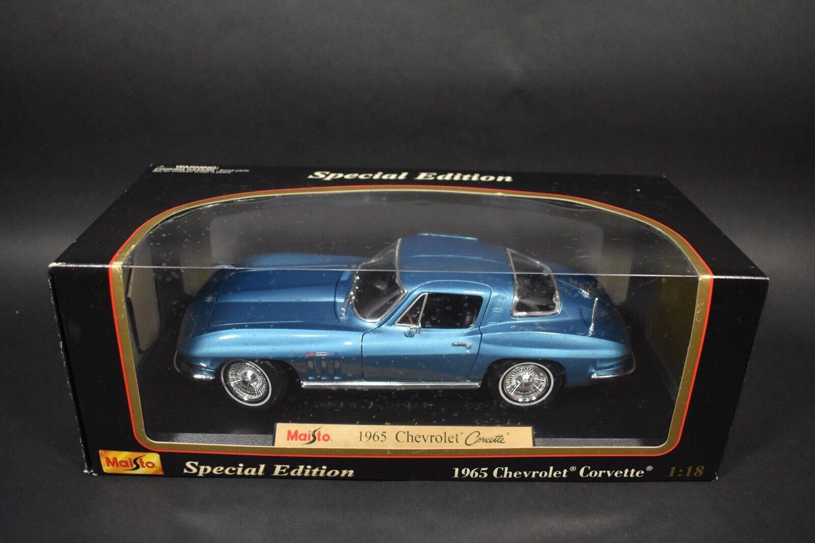 Maisto No. 31640 1 18 Chevrolet Corvette (1965) bluee Die-Cast Model Car IN BOX