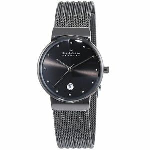 Skagen-Women-039-s-355SMM1-Ancher-Grey-Mesh-Watch