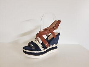 Sandalo-Donna-039-034-Miss-Incantevole-034-Sconto-55-Art-AB-06-Col-Blu-Jeans