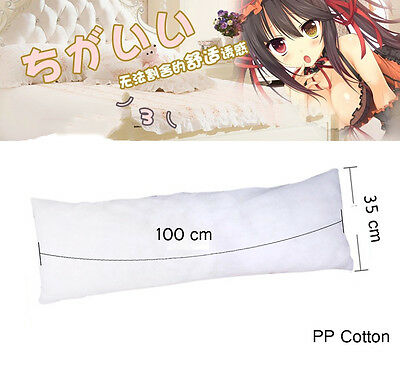 Hot selling 100x35cm Anime Dakimakura Hugging Body Pillow Inner Stuff PP Cotton