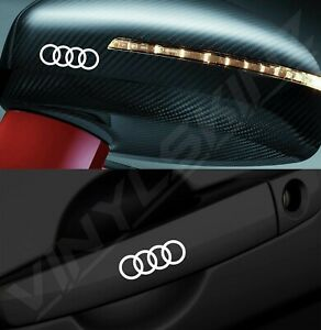 4x-Audi-Rings-Logo-Premium-Cast-Door-Handle-Mirror-Decals-Stickers-Quattro-RS