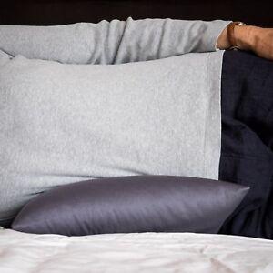 Bio Oz Buckwheat Hull Husk Lumbar Support Pillow Grey Australian