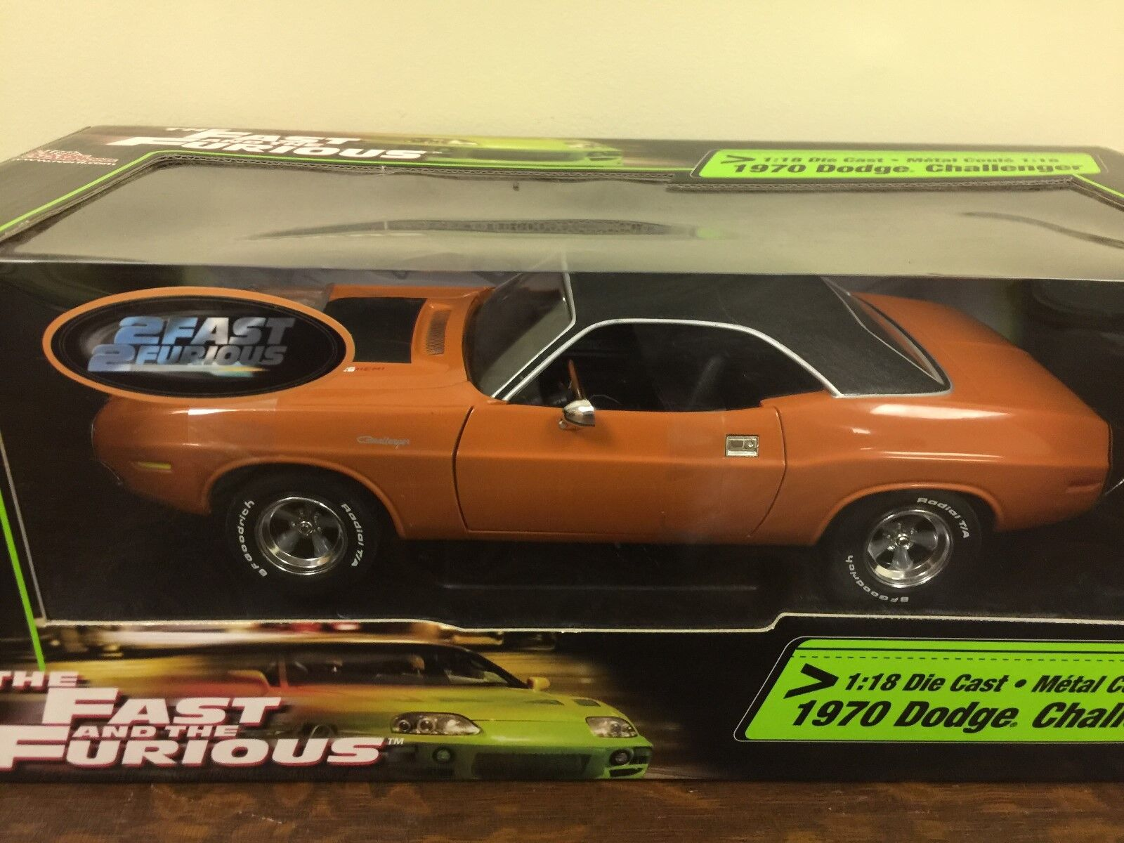 1 18  Die Cast Racing Champions The Fast and the Furious 1970 Dodge Challenger  prix plancher