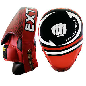 Boxing Focus Pads Hook /& Jab Mitts MMA Punch Bag Curved Kick Thai pads