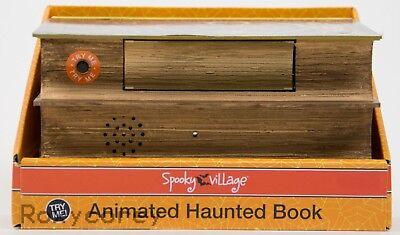 Halloween Spooky Village Animated Retro Typewriter Pop Out Skeleton Hand NIB