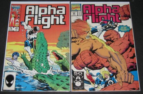Alpha Flight 41 & 94 19831994, Marvel 1st Print lot