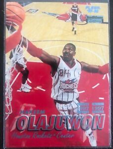 1997-98-Fleer-Tiffany-Tradition-Hakeem-Olajuwon-34-HOF-Houton-Rockets