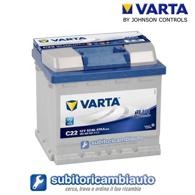 BATTERIA AUTO 52AH C22 VARTA BLUE DYNAMIC 470A di spunto