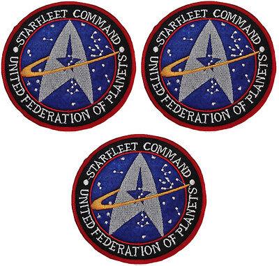 "Star Trek Starfleet UFP 3 1//4/"" Diameter Embroidered Logo Patch"
