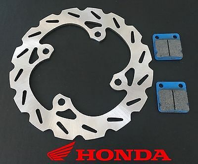 2000 Fits Honda TRX400EX 400EX Rear RipTide Brake Rotors /& Rear Brake Pads