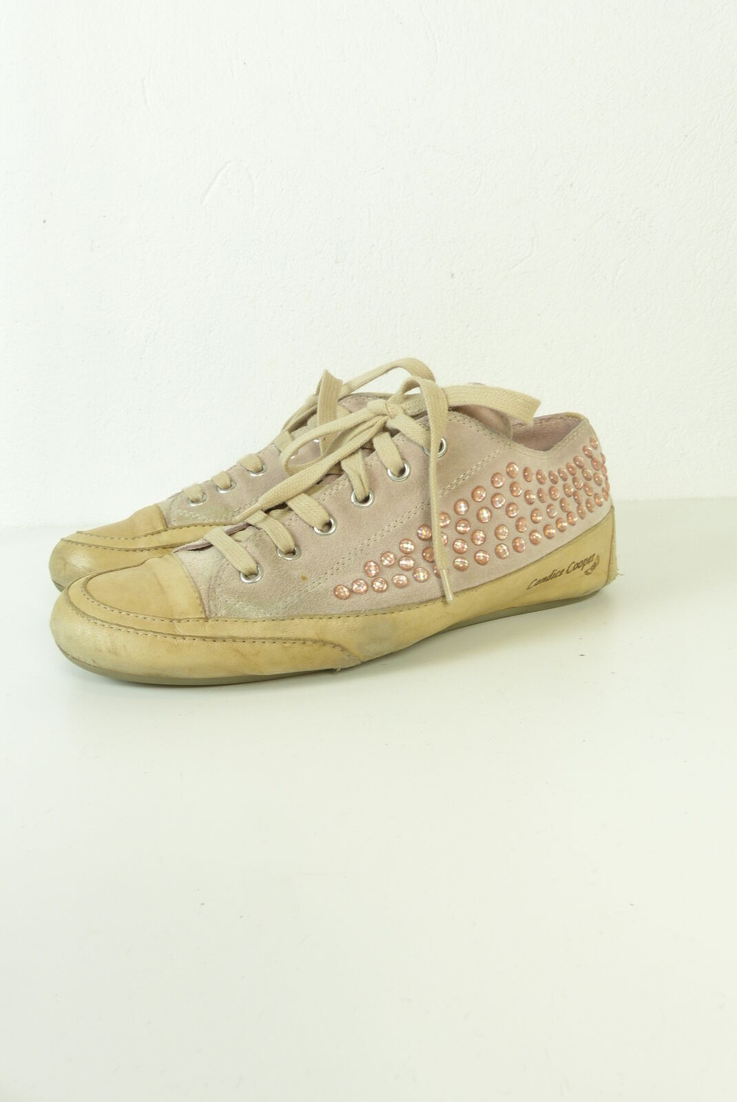 CANDICE COOPER Sneaker Turnschuhe Leder pink Steinchen Gr. (T48)